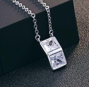 Silber-Zirkonia-Halskette-45cm-Kette-Anhaenger-aus-925-Sterlingsilber-Beutel