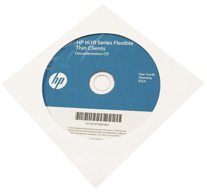 HP t610 Flexible ThinClient Documentation CD 679289-B22 679288-B22 Software NEW