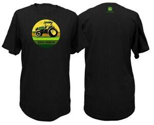 NEW John Deere Black Tractor Circle T-Shirt Size M, L, XL, 2X