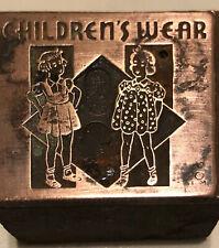 Vintage Wood Amp Metal Printing Print Block Stamps Childrens Wear