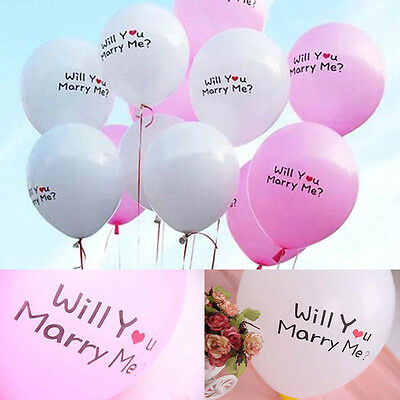 6/20/30/50 Pcs ''Will You Marry Me'' New Balloons Heart Wedding Marriages Party