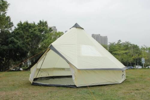 5 M Bell Tente zippées-In-Ground Sheet tente famille 10 personne Tente Camping Beige