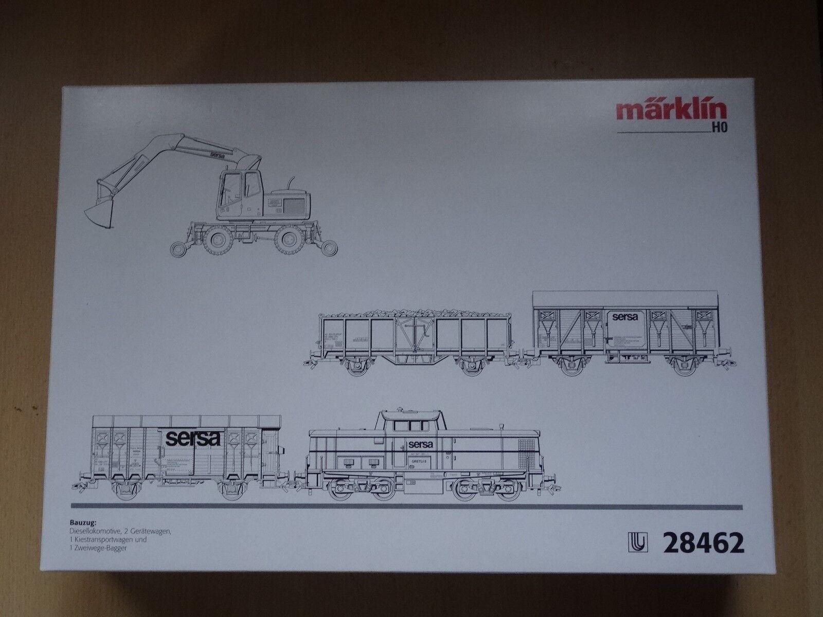 Marklin ho Art 28462 bauzug 5 piezas fa Sersa la SBB, delta nuevo en el embalaje original