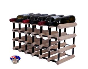 24/21 Bottle Timber Wine Rack -NATURAL PINE- Borders Original Free Postage