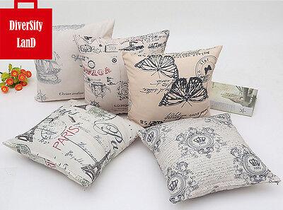 Large Cotton Linen Throw Cushion Cover Pillow Case Home Decor 45 45 Cm Ebay