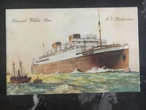1936 Martinique Picture Postcard Cover Boat Mv Britannic To Indiana Usa Ebay