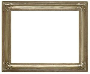 12 X 16 Arts Crafts Style Picture Frame Hand Applied Silver