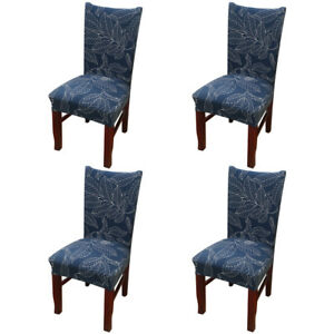 blue dining room chair covers | 4X Spandex Stretch Chair Cover Banquet Party Decor Dining ...