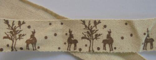 ciervos Handmade decorar bricolaje 20mm! webband Cordón Love coser
