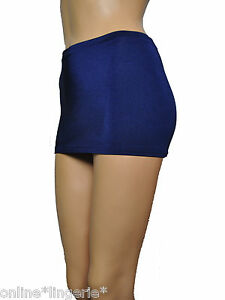 b17129ee36726e Mini Skirt Navy Blue Micro Lycra Party Club Sexy Bodycon 9