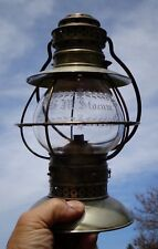 1859 KELLY & Co cut glass G M STOCUM fixed globe conductor lantern > 5 parts