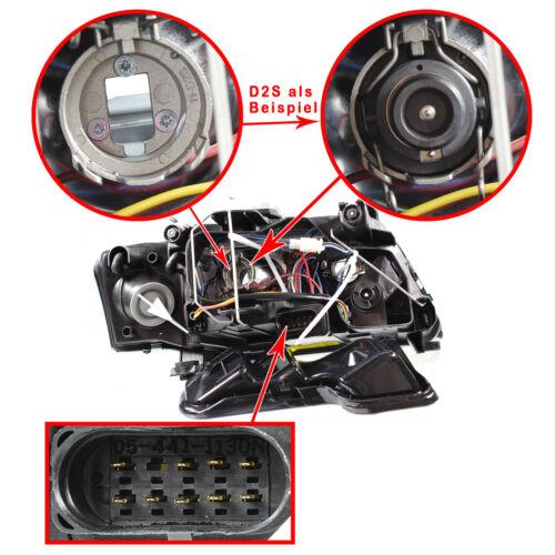 Set Xenon Scheinwerfer für Audi A6 C5 4B 97-04.01 klarglas//schwarz Angel Eyes