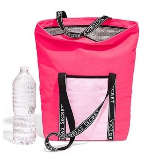 Victoria S Secret Insulated Vinyl Cooler Beach Bag Tote Neon Pink 2017 Ebay