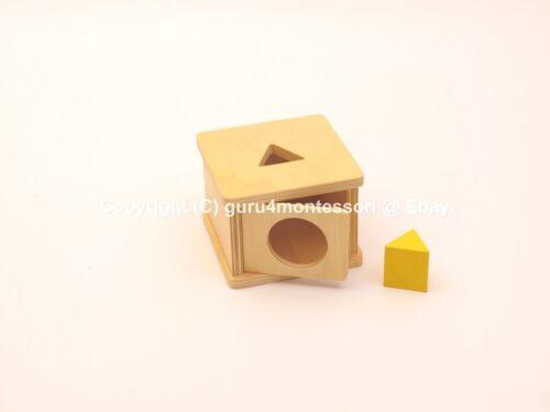 NEW Montessori Infant Toddler Material Imbucare Box with Triangular Prism