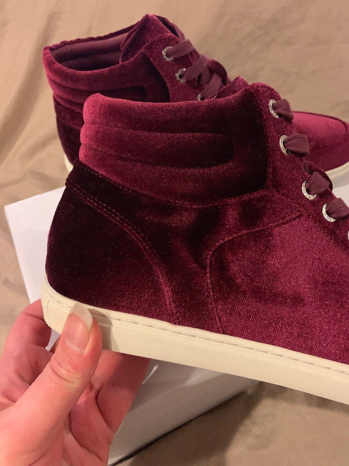 J diapositivas de la ciudad de Nueva Borgoña York Borgoña Nueva Terciopelo camarilla Zapatillas Hi Top Tops alto Zapatos para mujer 9.5 M cbb8ba