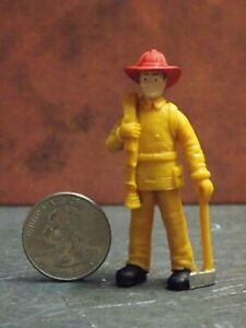 Dollhouse Miniature Figure Fire Fighter Man  2-3//8 inch tall F25 Dollys Gallery