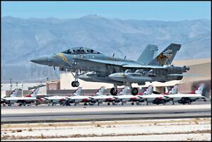USN EA-18G Growler VAQ-138 Nellis AFB 2021 8x12 Photo