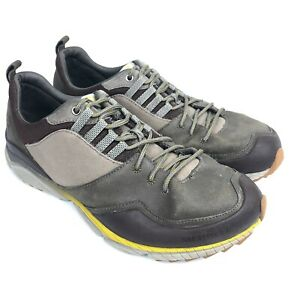attractive colour low priced selected material Details about Merrell Hiking Shoes Mens Size 15 Brown Leather Canvas Unifly  Select Grip