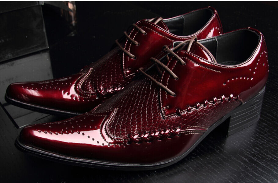 Mens Formal Leather Lace Up Hot Sale Formal Business Pointed Toe new shoes shoes SZ
