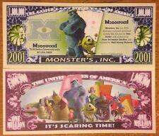 Disney Pixar Monsters Inc. Million Dollar Bill