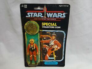 Pilote de chasse X-wing de Luke Skywalker avec pièce de monnaie 1984 Star Wars Le pouvoir de la force