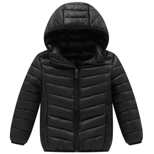 Unisex Toddler Hooded Down Jacket Boys Girls Winter Warm Quilted Puffer Coat Top