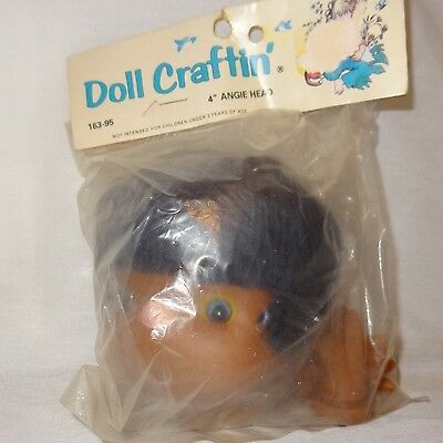 """Rabbit Doll Head 4 1// 4 /"""" Rubber Craft 6334 Doll Craftin Easter Bunny Old Stock"""