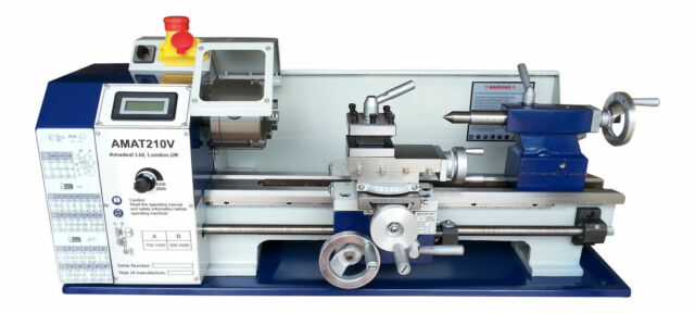 The Amadeal AMAT210V Bench Lathe 8x16