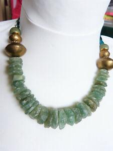 Aventurin-Scheiben-Tuareg-Bronze-Perlen-DIY-Kettenbau-Halskette