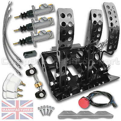 VW LUPO Hydraulic Floor Mounted Pedal Box + KIT B CMB6552-HYD-KIT+LINES