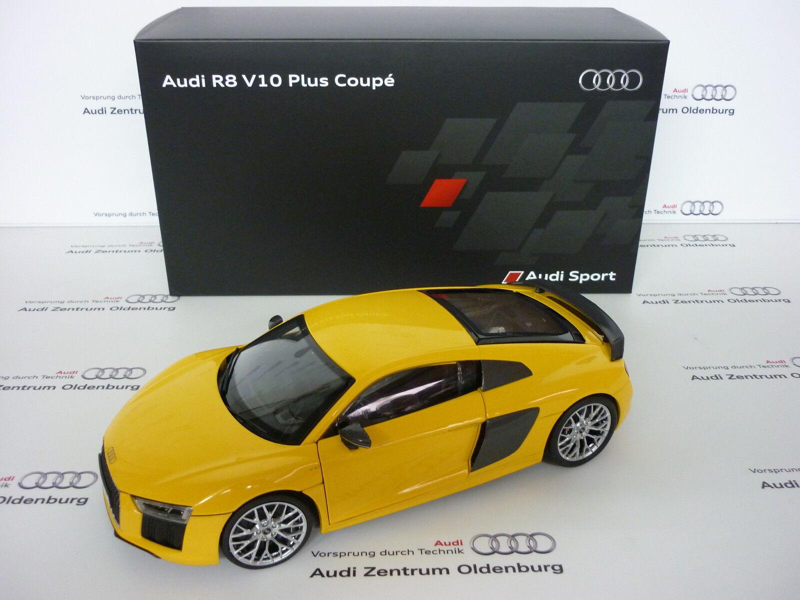 autentico en linea Audi originales coche coche coche modelo audi r8 coupé vegasamarillo 1 18  comprar nuevo barato