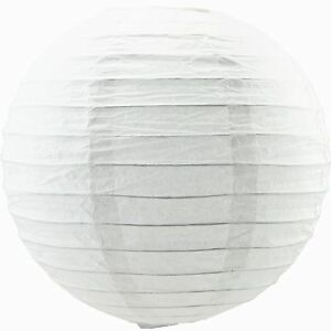 10 S WHITE COLOR CHINESE 10cm PAPER LANTERN WEDDING BIRTHDAY JAPANESE PARTY DECO
