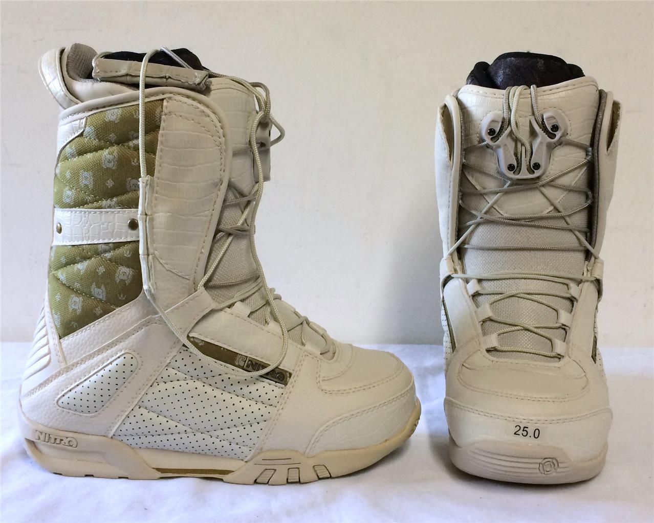 Nitro Crown Womens Snowboard  Boots Bone 5.5 NEW  fashionable