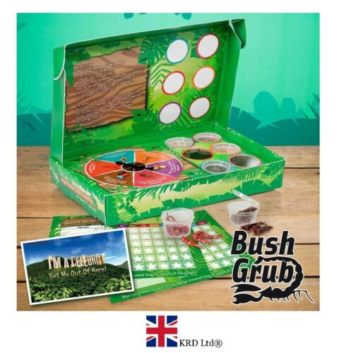 I 'm a celebrity Bush Tucker Trial Challenge Comestible Alimentaire Game Pack TV Show NOUVEAU UK