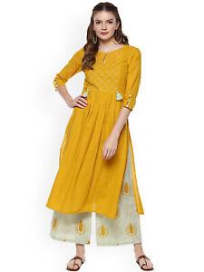 Indian Kurti Kurta Palazzo Dupatta Women Ethnic Dress Pakistani Top Tunic Bottom