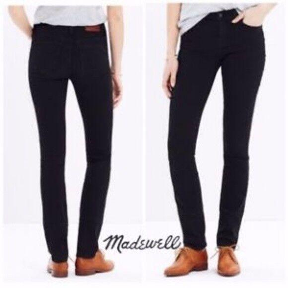 Madewell J.Crew Gasse Gerades Bein 20.3cm Mid-Rise Denim Jeans  schwarz Frost