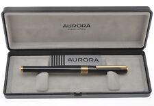 Aurora Marco Polo black lacquer fountain pen new pristine in box
