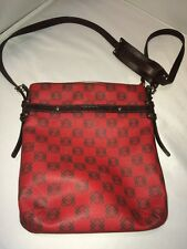 Auth Loewe Vinyl/Canvas & Leather Red Anagram Messenger & Cross-body bag