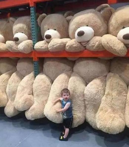 GRANDE TEDDY BEAR GIGANTE MORBIDO peluche giocattoli bambini regalo 60-340 cm Copertina buona regali