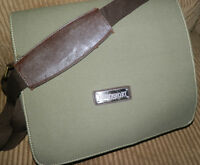 Eurosport Sling Messenger Olive Green Canvas Bag Ipad Holder Tablet Weatherproof