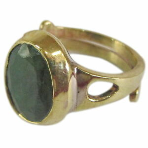 Certified-Emerald-Folding-Ring-Panchdhatu-Adjustable-Ring-of-Budh