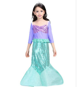 Details About New Kids Girls Mermaid Sequin Cocktail Birthday Party Dress Size 2 3