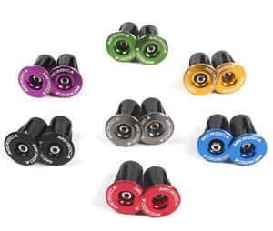 Road MTB Bike Aluminum Expander Handlebar Grips Bar top Cap End Plugs 1 pair