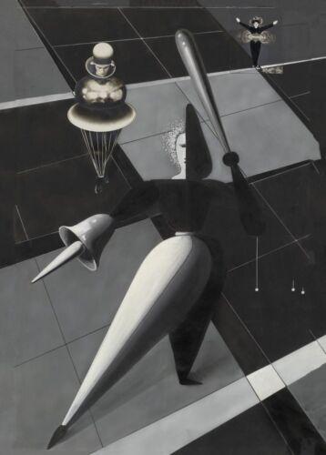 Triadic Ballet Oskar Schlemmer Vintage Bauhaus Ballet Poster Figurines in Space