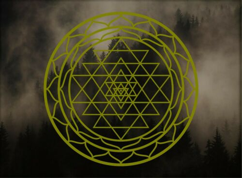 /'Sri Yantra/' Sticker Sacred Geometry x2 Choose Size /& Color Vinyl Decal