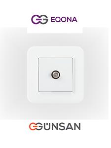 5-fachrahmen Schalter Lichtschalter Weiß Radius Eqona Gunsan Günsan NEU