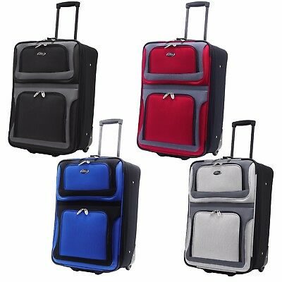 "New Yorker 21"" Carry-on Lightweight Expandable Rolling Luggage Suitcase Bag"