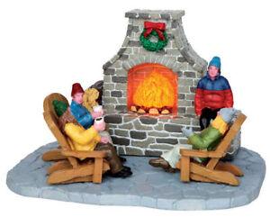 Lemax-villaggio-di-Natale-034-Outdoor-Camino-034-MPN-N-44753-ANIMATA-Tavola-Imbottita