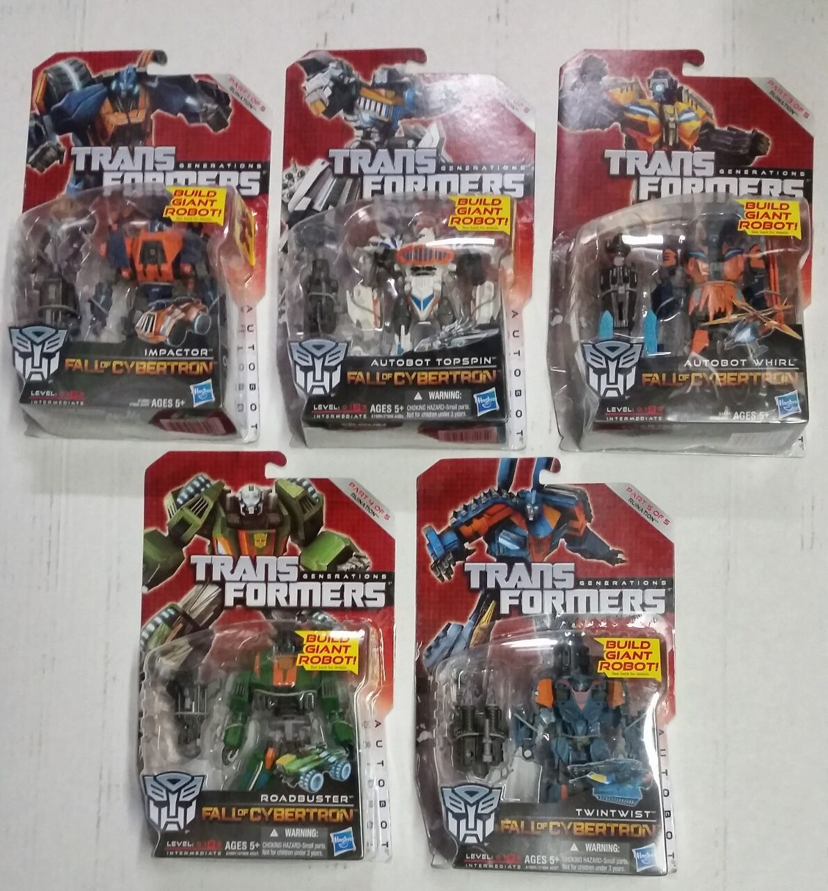 TRANSFORMERS Generations Build Giant Robot  RUINATION Fall of Cybertron NIP