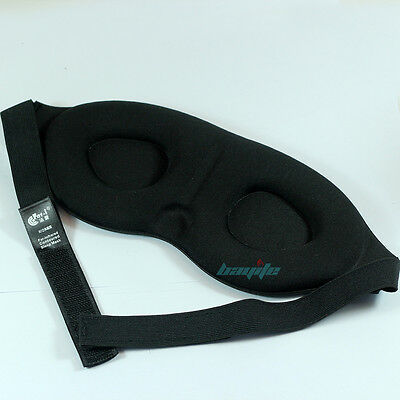 Soft Travel Sleep Eye Mask 3D Memory Foam Padded Shade Cover Sleeping Blindfold